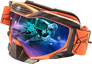 JIEPOLLY Motocross Goggles, ATV Dirt Pit Scooter Motorcycle Helmet Goggles Tear Off Lens for Adlut Women Men