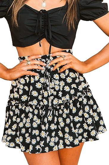 cute boho skirts, black daisy boho skirt