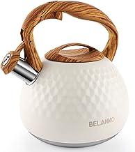 Tea Kettle, 2.7 Quart BELANKO Teapot Whistling Kettle with Wood Pattern Handle Loud..