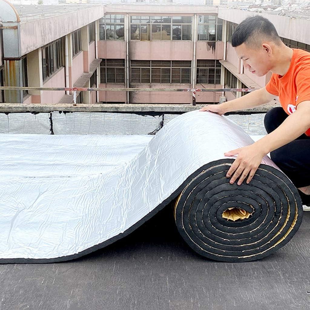 10 M Hochtemperaturbest/ändiger Brandschutzdach Sonnendach-Wasserrohr-D/ämmplatte BBGS Aluminiumfolie Selbstklebende Isolierwolle Color : 10mm Thickness