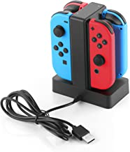 Basstop Nintendo Switch Joy-Con charger Nintendo switch joycon 4 units charging simultaneous charging LED indicator with charging stations