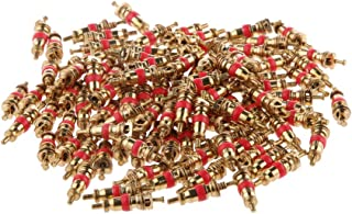 Homyl 100 peças de substituição de caminhão de moto, válvula de latão de pneu
