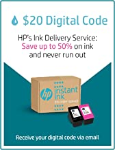 HP Instant Ink Business $20 Prepaid Card, use to enroll in 100, 300, 500 or 700 page plan (3YN94AN)
