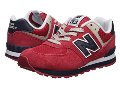 New Balance Kids 574 Classic (Toddler/Little Kid/Big Kid) (Red/Navy) Kids Shoes