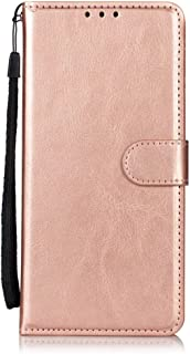 LG K20 Plus Wallet Case, LG K20 V Case,LG Harmony Case,Alkax Luxury PU Leather Wallet with Credit Card Slots Holder Kick Stand Flip Hard Folio Cover Magnetic Strap Protective for LG K10 2017 Rose Gold