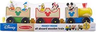 Melissa & Doug Disney Baby Mickey Mouse and Friends All Aboard Wooden Train Toy (3 Train Cars, 5 Characters, Great Gift for Girls and Boys – Best for 2, 3, and 4 Year Olds)