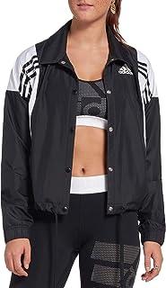 Jaqueta feminina leve atlética com 3 listras da Adidas