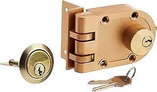 Rocky Mountain Goods Jimmy Proof Lock Deadbolt Lock with Keys - Heavy Duty Safety deadbolt - Easy install - Double Cylinder Locking Deadbolt - Shutter guard prevents forced entry