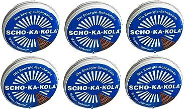 6 x 100 g de leche entera Scho-Ka-Kola, chocolate energético, contiene cafeína