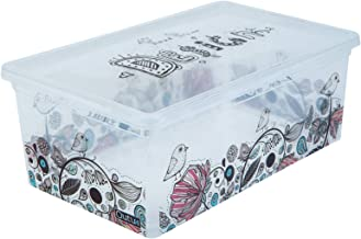 QUTU Light Box Hand Design Storage Box - Transparent, H 19 cm x W 11.5 cm x D 33.5 cm (Clear)