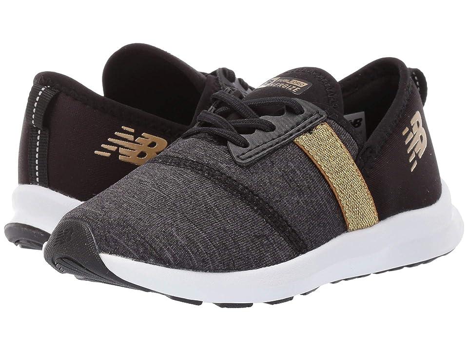 New Balance Kids IPNRGv1 (Infant/Toddler) (Black/Classic Gold) Girls Shoes