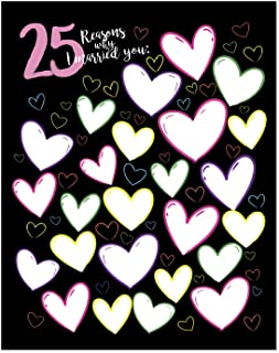 11x14 25th Anniversary Gift For Men - 25 Reasons Why I Married You Poster Print/