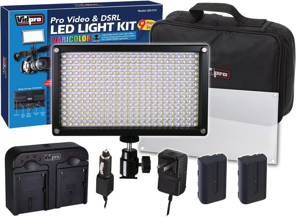 Sony HDR-PJ710V Camcorder Lighting Vidpro Max 74% OFF Vid 312-Bulb Max 50% OFF Varicolor