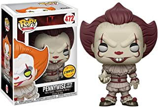 Funko Pennywise [w/ Boat] (Chase Edition): It x POP! Movies Vinyl Figure & 1 POP! Compatible PET Plastic Graphical Protector Bundle [#472 / 20176 - B]