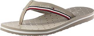 Tommy Hilfiger Womens Essential Mini Flag Flip Flop Flip-Flop, Color: Stone, Size: 41 Eu