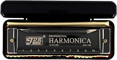KETOSTICS JDR MOUTH ORGAN/HARMONICA 10 HOLES (KEY OF C) BLACK FOR MUSIC LOVERS