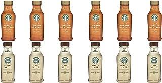 LUV BOX- Variety Starbucks Iced Latte Pack 14oz Plastic Bottle, 16ct,Pumpkin Spice Iced Latte LTO,Iced Latte Vanilla Latte