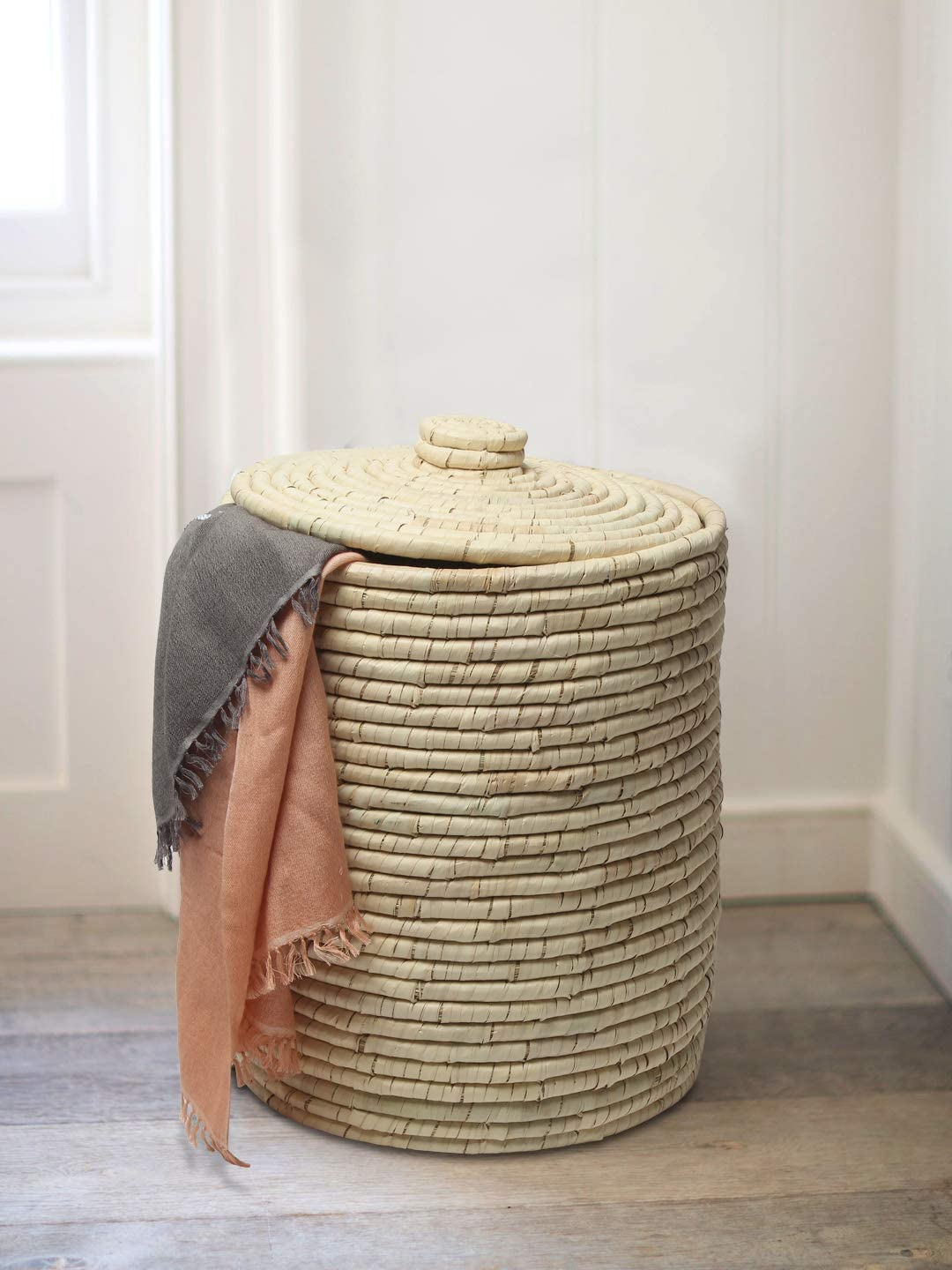 HabereIndia - Palm Leaves Laundry Han Super popular specialty Ranking TOP11 store Portable Basket