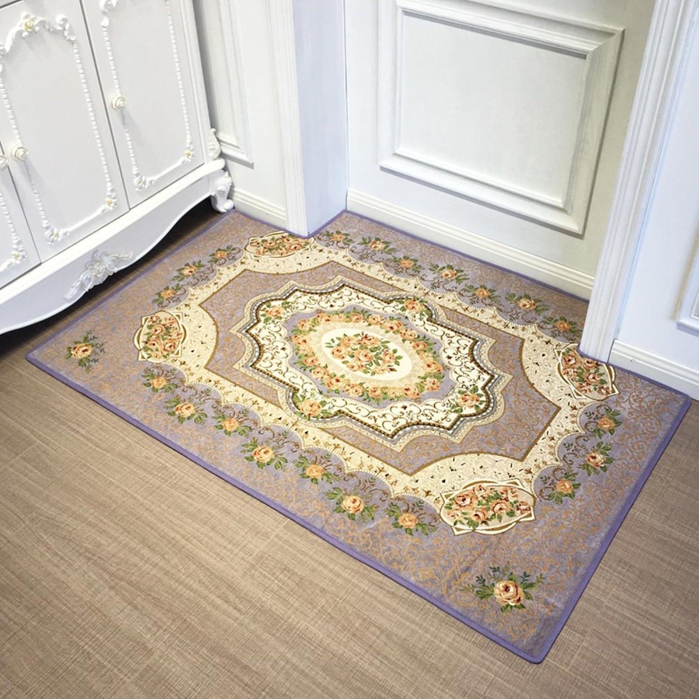 Indoor mats Non-Slip mat Door Foot mat Indoor mat Living Room,Lobby Floor mats Foot mats Doormat-K 80x100cm(31x39inch)