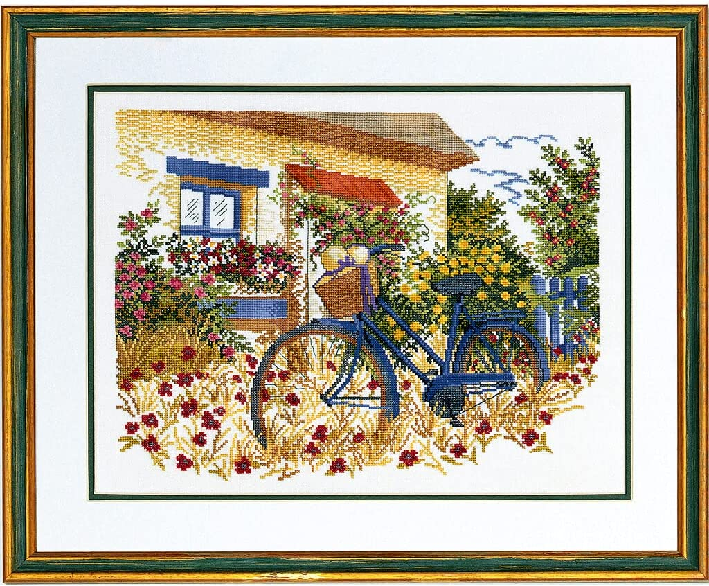 Eva Rose Stand Cross Limited price sale Stitch Set Bicycle 2021new shipping free shipping Pattern 40 Blue Counted