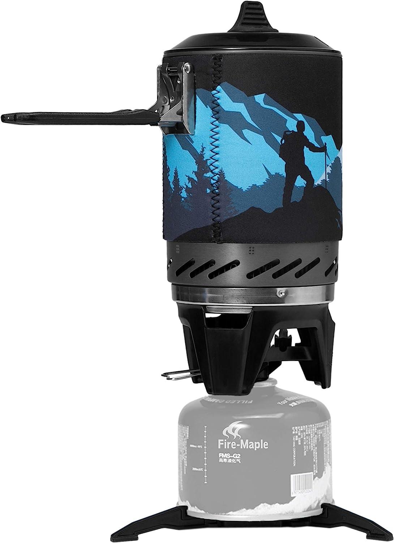 Fire-Maple FMS-X2 Hornillo Camping Portátile de Acampada al Aire Libre Mini Estufa de Camping con Piezoeléctrico Quemador de Propano Mochilero Negro
