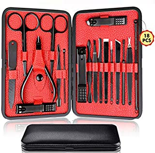 Sponsored Ad - Manicure Set Pedicure Kit Nail Clippers Set 18 in 1 High Precision Stainless Steel Cutter File Sharp Scisso...
