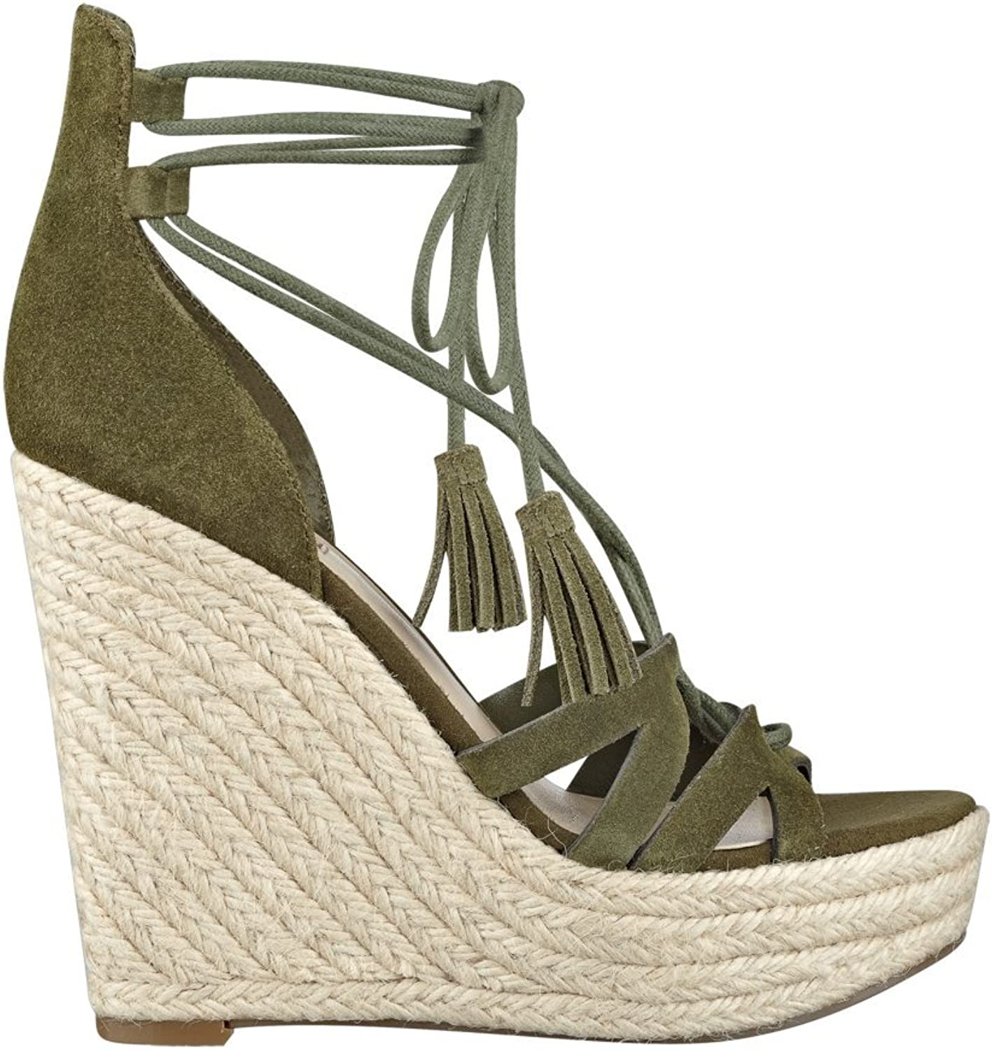 GUESS Ollina Python-Print Wedges Green