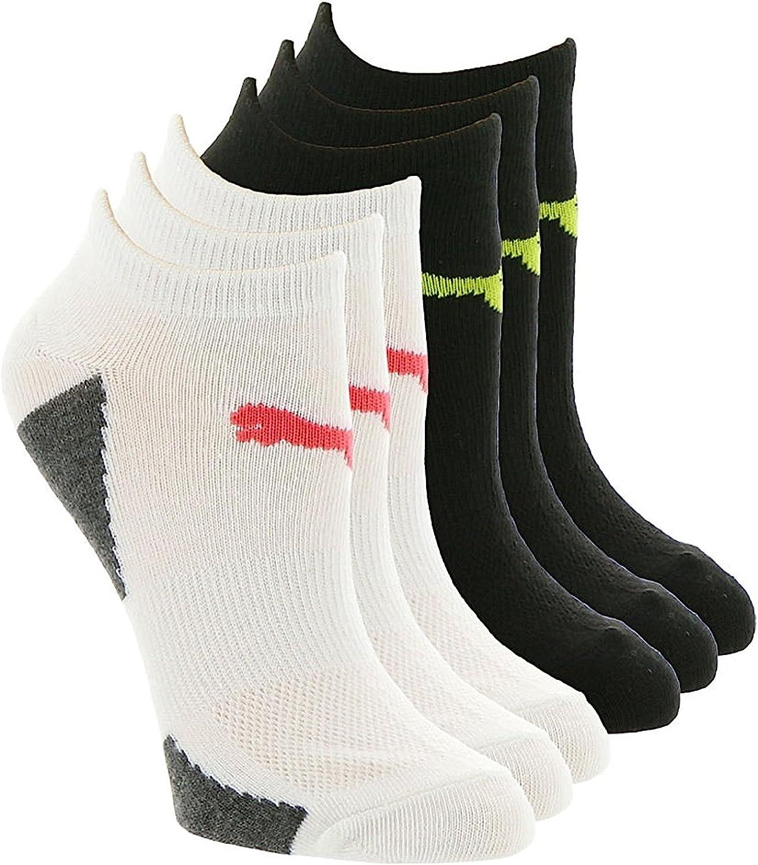 Amazon.com: Puma 6-Pack White/Bright Low Cut Pumalite Athletic ...