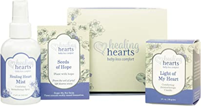 Healing Hearts Comfort Gift Set by Earth Mama   Pregnancy, Miscarriage and Baby Loss Care for Grieving Moms, 4-Piece Set