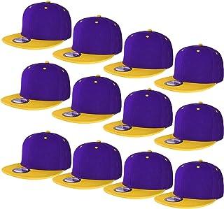 e07041a45c696 Falari Wholesale 12 Pack Snapback Hat Cap Hip Hop Style Flat Bill Blank  Solid Color Adjustable