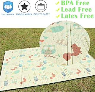 The Elixir Kids Playing Mat Foldable Baby Play Mat Children Play Rugs Waterproof Indoor Outdoor Foldable Beach Mat Picnic Camping Mat