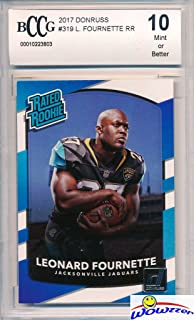 Leonard Fournette 2017 Donruss #319 Rated Rookie ROOKIE Card Graded HIGH BECKETT 10 MINT! Awesome High Grade ROOKIE Card of Jacksonville Jaguars Superstar Running Back & Top NFL Draft Pick!  WOWZZER!