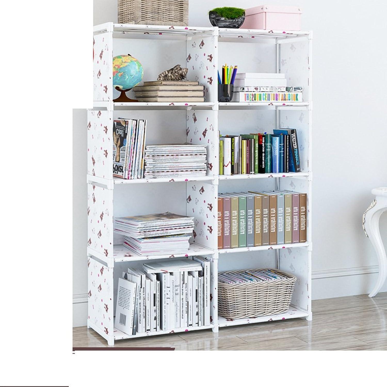 Bookshelf,'s Cabinet Simple Rack Floor Table Bookcase Simple Modern Student Creative Combination Storage-X 82x28x125cm(32x11x49)