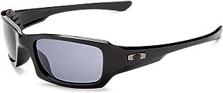 Kính mắt cao cấp nam – Men's OO9079 Fives Squared Rectangular Sunglasses, Polished Black/Grey, 54 mm