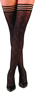 Kix`ies Stockings For Women | Thigh High Stockings with No-Slip Grip Stay Ups Thigh Bands | Womens Thigh High Stockings