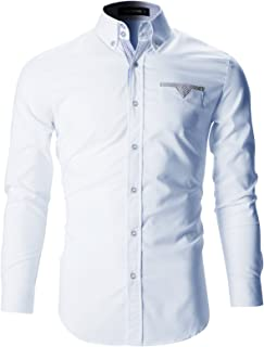 Mens Slim Fit Stylish Tailored Dress Shirts