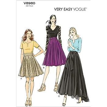 Simplicity Patron de Couture pour Femme 1200 Jupes Simples en 6 Styles