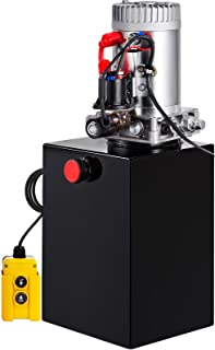 Mophorn 20 Quart Hydraulic Pump Single Acting Hydraulic Dump Trailer Pump 3200 PSI Hydraulic Power Unit (12V DC Single Action Powering Unit, SAE #6 Ports)