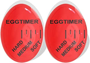 2 Pack Egg Timer Color Changing, Egg Timer for Boiling Soft or Hard Boiled Eggs, Bpa Free