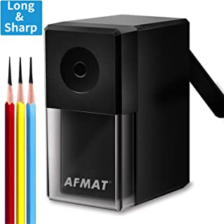 Charcoal Pencil Sharpener, AFMAT Long Point Pencil Sharpener, Pencil Sharpener for Art, Artist Pencil Sharpener for Drawing/Sketching Pencils(f6-8mm), Professional Manual Long Sharpener for Artists