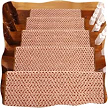 JIAJUAN Stair Carpet Treads Thicken Non-Slip Rubber Backing Rugs Home, 14mm, 4 Styles, 5 Sizes, Customizable (Color : B-5 ...