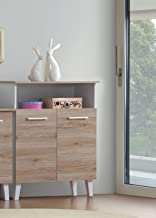 Maison Concept Wooden Cabinet, Brown - H 940 mm x W 330 mm x D 800 mm