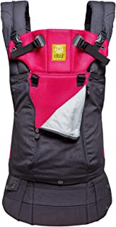 LÍLLÉbaby The Complete All Seasons SIX-Position, 360° Ergonomic Baby & Child Carrier, Charcoal Berry - Cotton