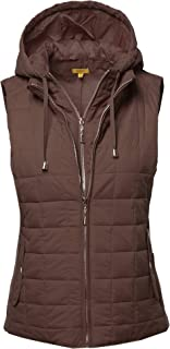 Made by Emma Women's Casual Light Weight Quilted Padding Vest