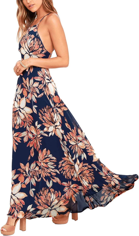 Womens Ladies Summer Casual Sleeveless Plain Party Evening Loose Long Maxi Dress