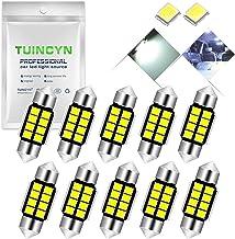 "TUINCYN 1.25"" 31MM Festoon LED Bulb Extremely Bright 6000K Xenon White 5630 Chipset DE3175 DE3021 DE3022 6428 7065 Interio..."