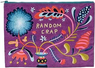 Blue Q Bags, Jumbo Zipper Pouch, Random Crap,Multicolor,10.25h x 13.75w x 1d