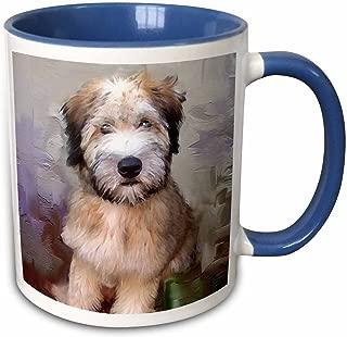 3dRose 4810_6 Soft Coated Wheaten Terrier - Two Tone Blue Mug, 11 oz, Multicolored