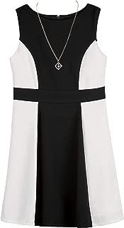 Girls' Big Colorblock Fit & Flare Dress