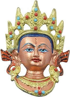 Reiki Crystal Products Vastu Feng Shui Beautiful Buddhist Goddess Tara Face Murti Idol Statue Sculpture Wall Hanging, Good Luck & Brings Prosperity